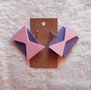 Purple & Pink Foam Earrings